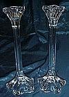 Mikasa Petals tall crystal candlesticks