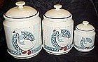 B & D blue ribbon geese cannister set