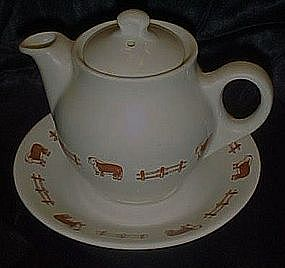 Syracuse China teapot