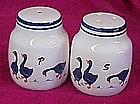 Blue geese salt and pepper shakers
