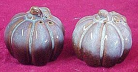 Fall harvest pumpkin gourd salt and pepper shakers