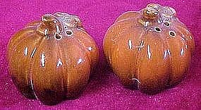 Fall Harvest pumpkin gourd shakers heavy glaze