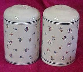 Nice ceramic calico flowers salt and pepper shaker