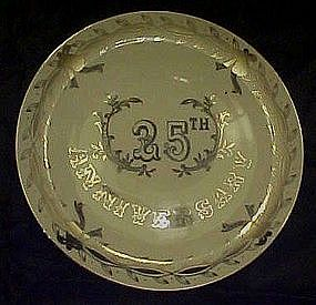 Lefton 25th silver Wedding anniversary plate