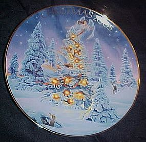 Avon annual Christmas plate, 2005,  Angel Lights.......