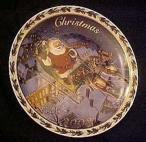 Avon annual Christmas plate, 2003, Coming to town