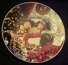 Avon annual Christmas plate, 2000, Christmas dreams