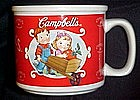 Campbell's soup mug, Campbell's kids in wheelbarrow