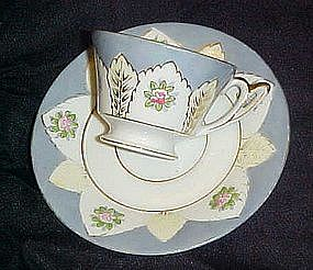 Ucagco Occupied Japan, Hand painted demi cup and saucer
