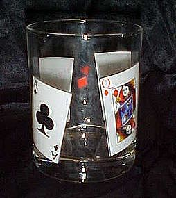 AJKQ Card suits old fashioned, whiskey glass
