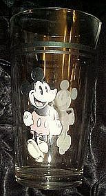 Pie eyed Mickey mouse drinking glass by Gibson