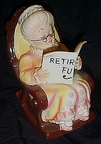 Lefton Grandma retirement  fund  ceramic bank