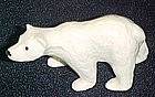 Porcelain miniature polar bear figurine