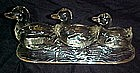 Three swimming ducks, K.R. Haley Glassware Co. glass