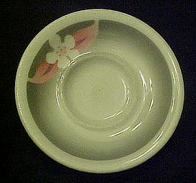 Wallace stenciled airbrushed flower, saucer, restaurant