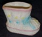 Relpo ceramic baby bootie nursery planter