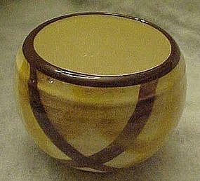 Vernonware Organdie plaid sugar bowl