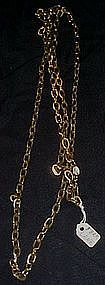 "53"" Park Land heavy gold tone chain"