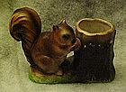 Vintage squirrel and stump, toothbrush holder, or vase
