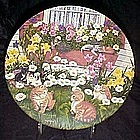 Bloomin Kitties plate by Higgins Bond, Garden secrets