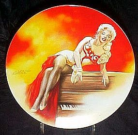 Marilyn Monroe,River of no return collector plate