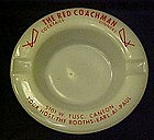 Vintage advertising ashtray, The Red Coachman