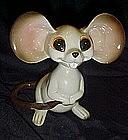 Vintage Norcrest  ceramic Mouse  nodder / bobblehead