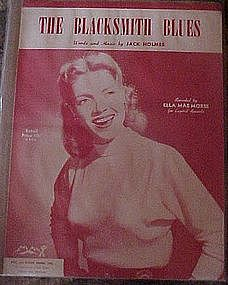 Blacksmith Blues, sheet music, Ella Mae Morse cover