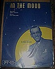 In the Mood,  sheet music,  Glen Miller cover