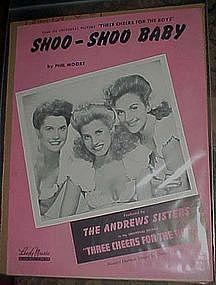 Shoo-Shoo baby, Andrews Sisters cover 1943