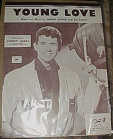 Young Love, vintage sheet Music, Sonny James cover