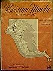 Besame Mucho (kiss me much) sheet music 1943