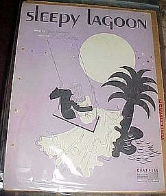 Sleepy lagoon sheet music, by Jack Lawrence, Deco