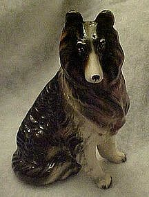 Vintage Enesco Lassie Collie  ceramic bank E-3128