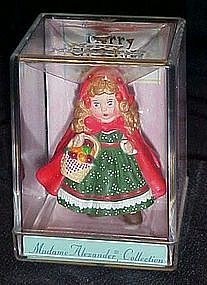 Hallmark mini ornament Madame Alexander, red riding