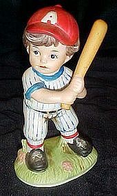 Homco little baseball batter figurine