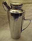 Vintage dimpled chrome cocktail shaker / pourer