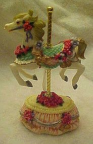 Heritage House musical carousel horse, plays Yesterday