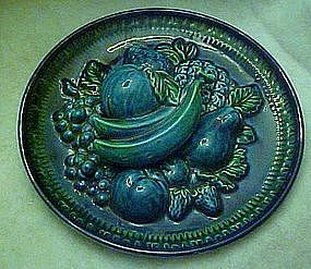 vintage Inarco Indigo blue fruit wall decor  plate
