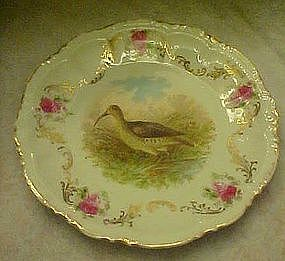 Old sandpiper cabinet plate with roses and gold swags