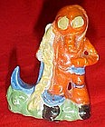 Vintage  Japan  fish tank figurine, diver with anchor