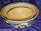 Vintage hand painted Mexico pottery mixing bowls