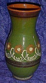 Large vintage  glazed Mexican pottery art vase
