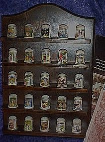 Franklin Mint Thimbles  25 pc, Pages of America's Past