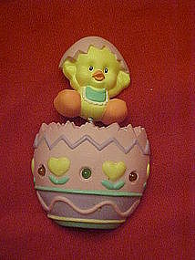 Avon hatching Easter chick ,egg, blinking pin