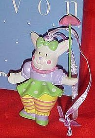 Avon pvc Clown Bunny ornament, Parading Parasol
