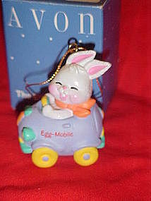 Avon  Easter Eggspression ornament, Easter egg car