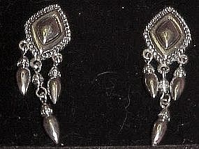 Avon western silver dangle earrings, new