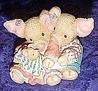 Enesco This little piggy makes Three, figurine   #13093