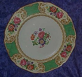 Royal Ducal green florals ansd scrolls